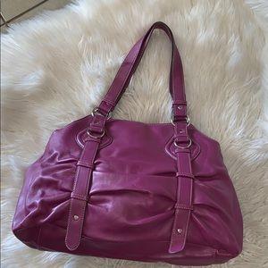 Mondani leather satchel handbag medium